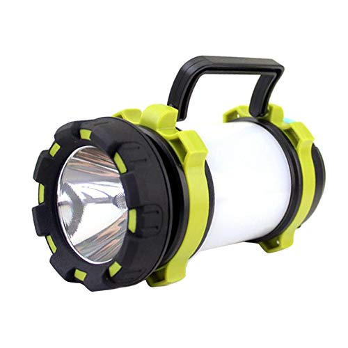 Almencla Linterna LED para Acampar, Recargable por USB, Linterna de Alto Lumen, 4 Modos,