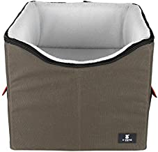 X-ZONE PET Dog Booster Car Seat/Pet Bed at Home, with Pockets and Carrying case?Easy Storage and Portable (Medium, Brown&Red)