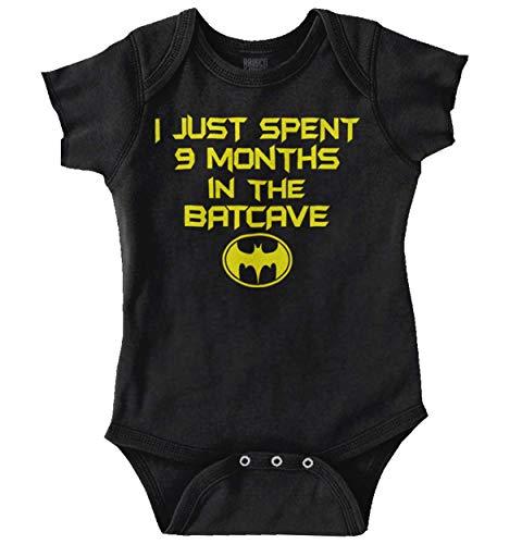Spent 9 Months in The Cave Superhero Newborn Baby Boy Girl Romper Black