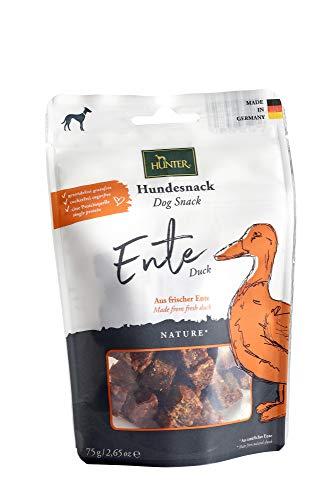 HUNTER NATURE Hundesnack, getreidefrei, ohne Zuckerzusatz, 75 g, Ente