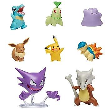 Pokemon Battle Figure 8-Pack Featuring 2  Cyndaquil 2  Chikorita 2  Totodile 2  Pikachu 2  Eevee 2  Ditto 3  Haunter 3  Marowak - Gotta Catch 'Em All