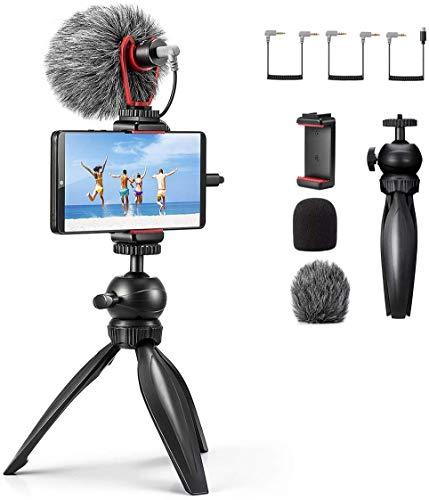 カメラマイク Frunsi 外付けマイク オンライン授業マイク 単一指向性集音 外部マイク ブログマイク iphone11/Vlog/Goproカメラ/Samsung/Sony/Gopro/huawei/GooglePixel/Nikon/Canon/SONYカメラ/DVカメラに対応