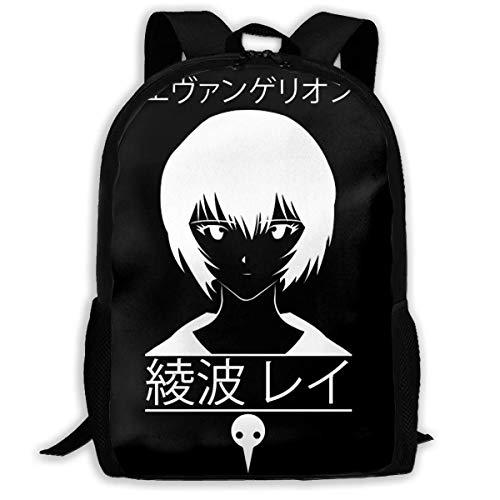 XCNGG Tenshi Ayanami School Bag Teenager Casual Sports Backpack Men Women Student Travel Hiking Laptop Backpack
