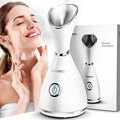 Facial Steamer, JOMARTO Nano Ionic Facial Steamer, Home Humidifier Personal Vaporizer, Portable Home Skin Spa Steamers, Warm Mist for Moisturizing and Blackheads Acne Skin Care, Ideal Gift by JOMARTO
