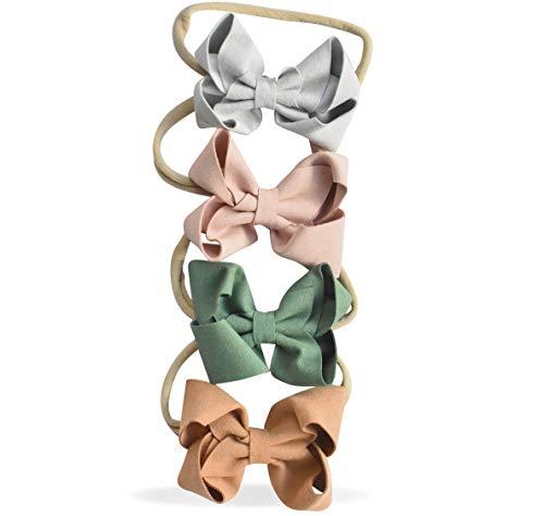 California Tot Soft & Stretchy Headbands for Baby, Toddler, Girls, Mixed Set of 4 (Ballet Princess)