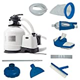 Intex 3000 GPH Above Ground Pool Sand Filter Pump w/ Deluxe Pool Maintenance Kit