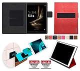 reboon Hülle für Asus Zenpad 3S 10 Z500KL Tasche Cover Case Bumper | in Rot Leder | Testsieger
