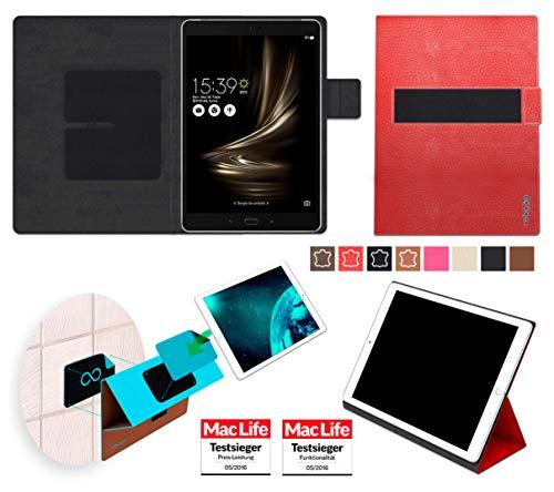 Hülle für Asus Zenpad 3S 10 Z500KL Tasche Cover Hülle Bumper | in Rot Leder | Testsieger