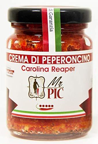 Crema di peperoncino CAROLINA REAPER 90 g - PICCANTEZZA ATOMICA & GUINNESS DEI PRIMATI 2017 - Mr PIC: il Peperoncino Toscano di alta qualità