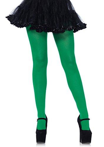 Leg Avenue Women's Nylon Tights, Kelly Green, One Size