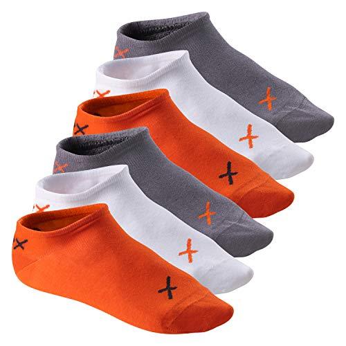 CFLEX Lifestyle Herren und Damen Sneaker Socken (6 Paar), Halbsocken aus Baumwolle - Poppy Excalibur 35-38