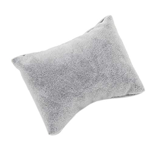 Blesiya 5pcs Gray Velvet Bracelet Bangle Wristwatch Display Showcase Holder Cushion
