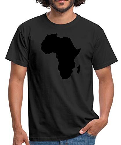 Afrika Landkarte Männer T-Shirt, XXL, Schwarz