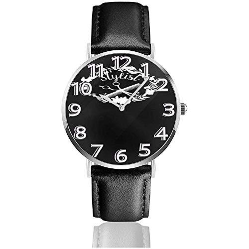 Louise Morrison Hair Stylist Reloj de Cuero Relojes de Pulsera Resistente a rayones Reloj de Cuarzo Relojes de Uso Casual