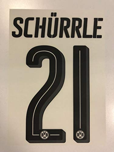 Flock Original BVB Borussia Dortmund Trikot 25cm - SCHÜRRLE 21