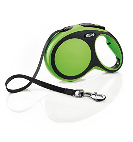 FLEXI New Comfort Retractable Dog Leash (Tape), 26 ft, Large, Green, Model:CF30T8.250.G