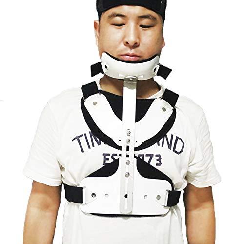 Ortesis de columna cervical, corrector torácico cervical, corrector torácico de cabeza ajustable, cuello, pecho, soporte lumbar U para alivio de lesiones en el cuello y la parte superior de la espal