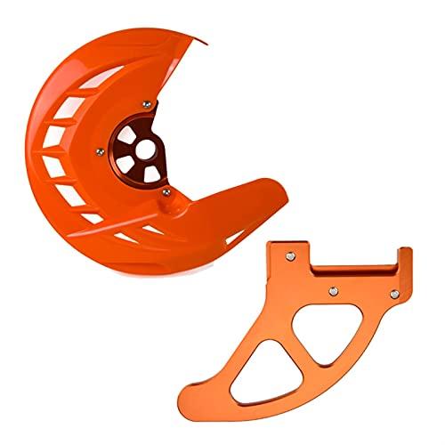 XIXI-Home Protector de protección del Freno Delantero Trasero Ajuste para Husqvarna Te Fe TC FC TX FX FX FS TX 250 300 350 450 449 450 480 501 510-650 2004-2014 (Color : Orange)