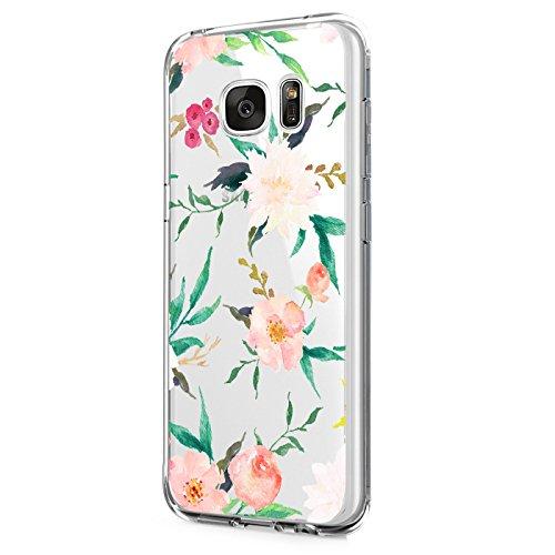 Gehäuse kompatibel mit Samsung Galaxy S7 Edge, transparentes Mobiltelefongehäuse Silikonrückendeckel Muster Schutzabdeckung TPU-Schutzhülle Schlanke Schutzhülle für Kratzschutz für Galaxy S7 Edge (1)