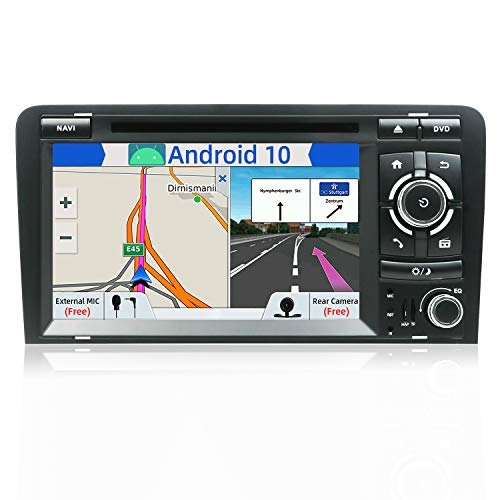 "JOYX Android 10.0 Autoradio Compatible para Audi A3 (2003-2011) Estéreo Navegación | Gratis Cámara Canbus Micrófono | 2G/32G| GPS 2 DIN | 7"" | Soporte Dab 4G WLAN Carplay Bluetooth MirrorLink Volante"