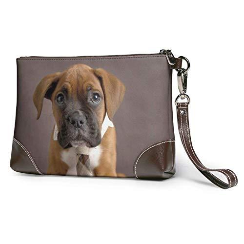 XCNGG Bolso de mano con estampado de perro cachorro, bolso de mano de cuero desmontable, bolso de mano para mujer