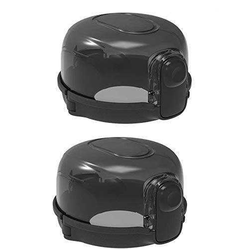 2 PCS Child Safety Knob Covers, Security Knob Cover Guards, Oven Knob Lock, Stove Knob Guard, Child Lock Kitchen Gas Stove Cover, Heat-Proof Covers for Baby Toddler Child Kitchen Safety (Black)