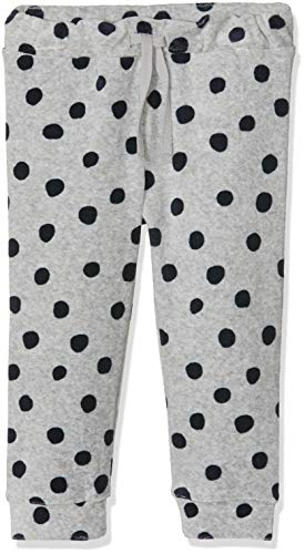 Name It Nbfnealma Vel Pant Pantalon, Multicolore (Grey Melange), 68 Bébé Fille