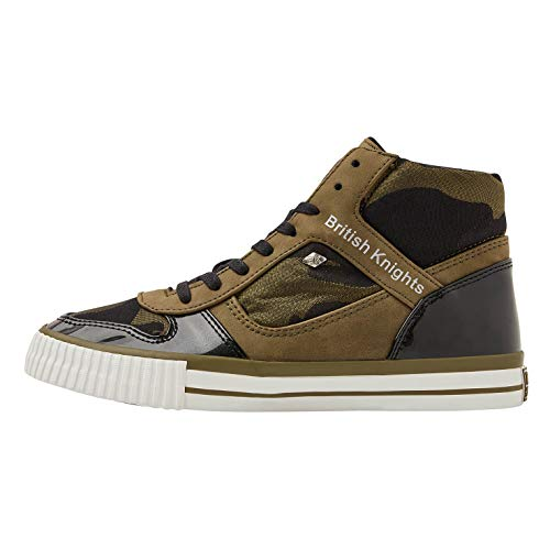 British Knights Damen Snapper Hohe Sneaker, Grün (Olive/Camo 04), 36 EU