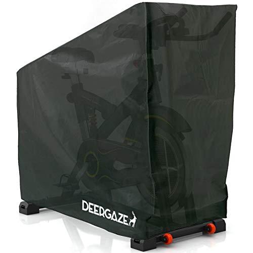 DEERGAZE Funda para Bicicleta Estática o de Spinning para Interior y Exterior. Cubierta Impermeable Protectora contra Lluvia, Sol y Polvo.