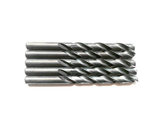 "5PCS 27/64"" Inch HSS General Purpose Heavy Duty Jobber Twist Drill Bits,Black oxide,ideal for drilling on mild steel, copper, Aluminum, Zinc alloy etc. (27/64)"