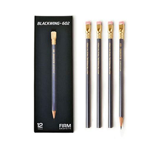 PALOMINO Blackwing 602 Original Soft Pencil, 12 Count(1 Dozen) Gray Art, Eraser, Writing Instrument