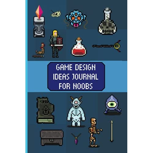 Game Design Ideas Journal For Noobs: A Videogame Development Logbook: With Game Design Documents and Square Graph Papers