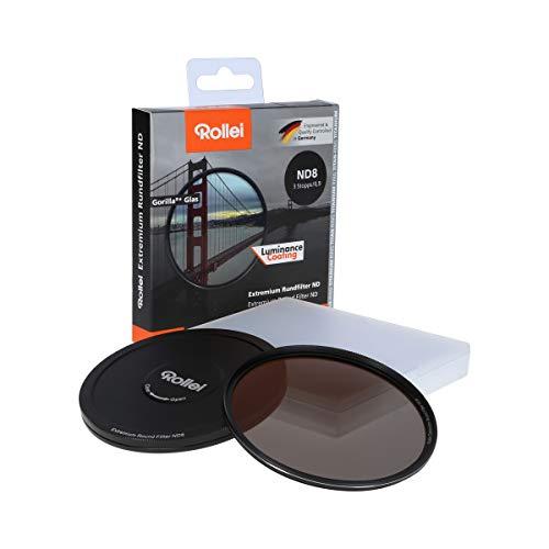 Rollei Extremium Round Filter ND8 Stopper 82 mm - Filtro de densidad neutra con anillo de titanio de vidrio Gorilla con revestimiento especial - ND8 (3 paradas / 0,9)
