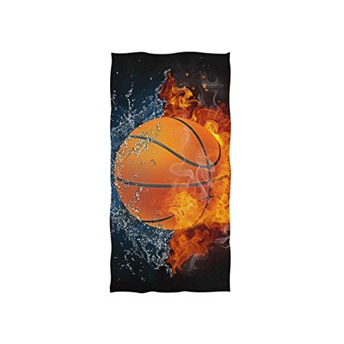 Vinlin Basketball Sport Mikrofaser-Handtuch mit hoher Saugfähigkeit für Strand, Fitnessstudio, Sport, Badetuch