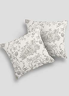 Contrast Living ;Bhakal Printed Cotton Cushion Cover, 18 x18 Inches, Multicolour -Set of 2 Pieces