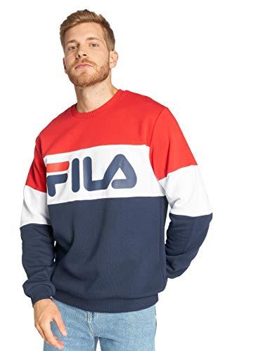Fila Sweatshirt Herren URBAN LINE Sweatshirt Straight Blocked Crew 681255 K14 Black Iris Bright White True Red, Größe:S