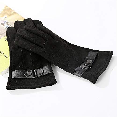 Gants chauds d'équitation de sports de plein air d'automne d'hiver des hommes de l'écran tactile coupe-vent Gants (Couleur : Noir, Taille : One size fits all)