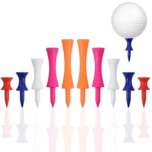 NEW NOAM Golf-Tees, langlebige Golf-Tees aus Kunststoff, 150 Stück, verschiedene Höhen (32 mm, 39 mm, 51 mm, 59 mm, 70 mm)