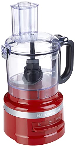 KitchenAid KFP0718ER 7 Cup Food Processor, Empire Red