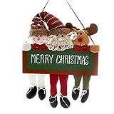 Amosfun Weihnachten Wand Türdekorationen Weihnachten hängende Anhänger Weihnachten dekorative Puppe für Gartenhaus Christma