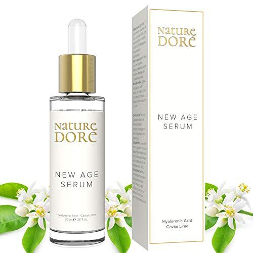 NEW AGE: Magnifico Serum facial Hidratante BIO con Ácido Hialurónico PURO Antiarrugas|Caviar Lime(FUENTE natural de VITAMINA C)| Centella Asiática-Mujer-hombre|Contorno ojos| Organico|Antiedad