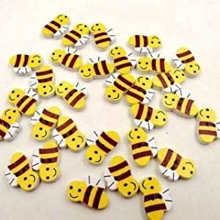 JumpingLight BEE 2-Hole Wood Buttons 13/16