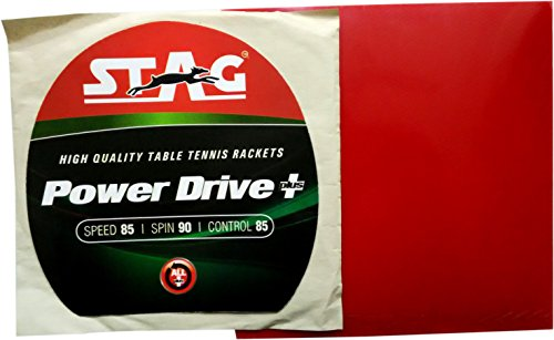Stag Power Drive Plus Table Tennis Rubber (Red)