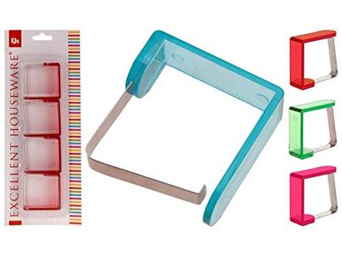 EH® 640905 Tischklammern 4erSet transcolor Tischtuchklammern (grün)
