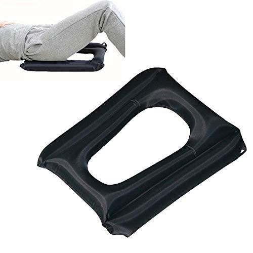 Z-ZH Aufblasbares Anti-Dekubitus-Kissen - Aufblasbare Anti-Dekubitus-Sitzmatratze für Rollstuhl, Bürostuhl und Auto - Schmerzlinderung für Steißbein und Ischias, medizinisches Luftkissen