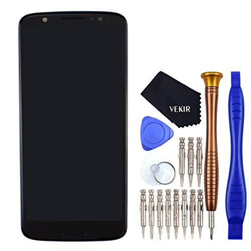 VEKIR schwarz LCD Touchscreenizer Bildschirm mit Rahmen anzeigen Ersatz fur Motorola Moto G6