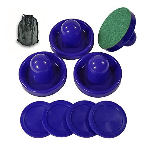 Golden field Air-Hockey-Pucks und Paddel, Set mit 4 Schiebern und 4 Pucks, Air-Hockey-Zubehör, geeignet für Hockey-Tische über 1,8 m