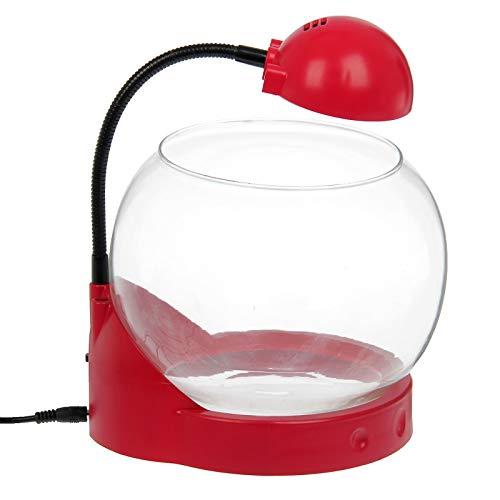 takestop® mini aquarium lamp AMPOLLA Tg01 capaciteit 2 liter met 3 LED INCORPORATIE Desing SCRIVANIA kantoor 20x19x27cm kleur casual