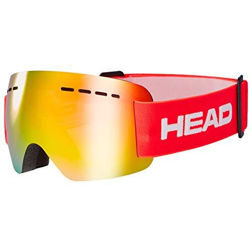 Head Solar JR FMR Gafas de esqui, Unisex adultos, Rojo, Talla Unica