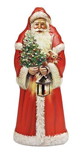 Windel Candy Santa Claus de metal con decoraciones en relieve, se puede abrir con bombones de chocolate con leche, 1 x 77 gramos